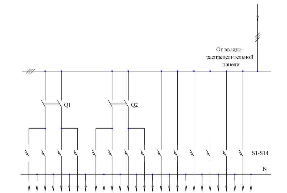 Схема вводно распределительный